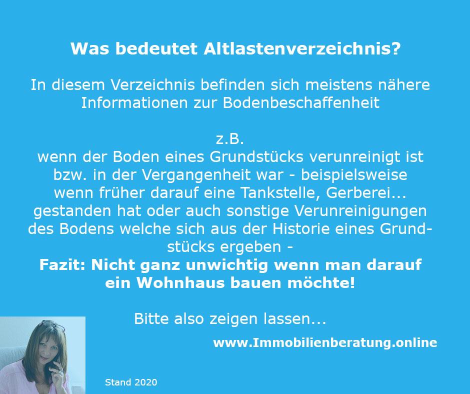 Altlastenverzeichnis Immobilienberatung.online